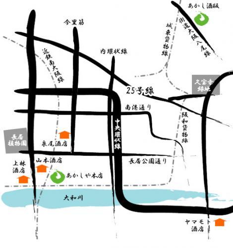 グループ店の地図